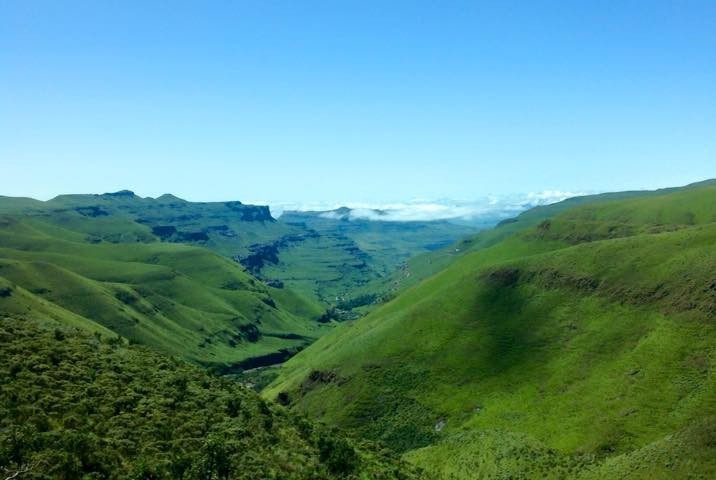 Rolling Hills of the Sani Pass Valley